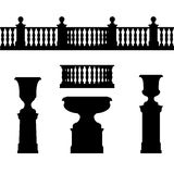 Balustrade elements and vase Stock Image