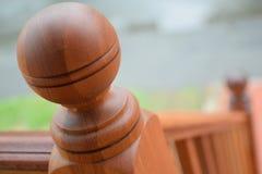 Balustrade en bois Photo libre de droits