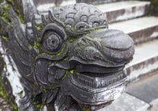 balustrade en forme de dragon en Hue Imperial Palace photos stock