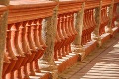 Balustrade en pierre espagnole au Mexique photo stock