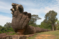 Balustrade géante de naga Photographie stock