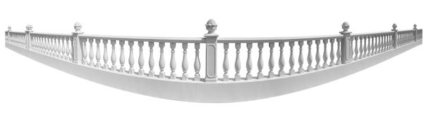 Balustrade. Isolated on a white background Royalty Free Stock Photography