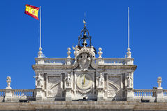 Balustrade in the main facade of the Royal Palace, Madrid Stock Photography