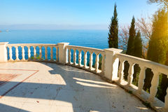 Balustrade near sea Stock Image