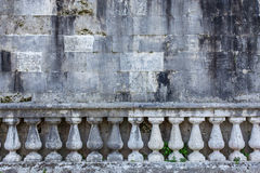 Balustrade and old wall Royalty Free Stock Photos