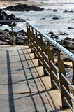 Balustrade over the beach Royalty Free Stock Photography