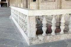 Balustrade of the Palladian Basilica in the city of Vicenza. Stone balustrade of the Palladian Basilica in the city of Vicenza in Italy Royalty Free Stock Image
