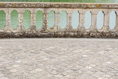 Balustrade - park of Royal hunting castle  in Fontainebleau, Fra Royalty Free Stock Photography