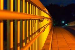 Balustrade of pedestrian foot bridge Royalty Free Stock Photography