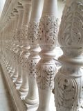 Balustrade. A perspective view of a white marble balustrade in the Museum of the Art Institute of Chicago Stock Photography