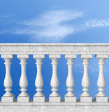 balustrade with pillar Royalty Free Stock Images