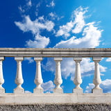 Balustrade Pillars on a Cloudy Sky Stock Photos