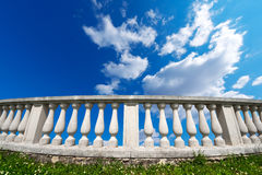 Balustrade Pillars on a Cloudy Sky Royalty Free Stock Images