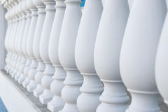 Balustrade Pillars in a Row Royalty Free Stock Photography
