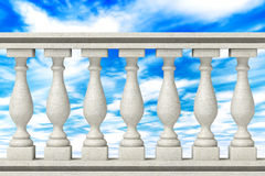 Balustrade Pillars Royalty Free Stock Images