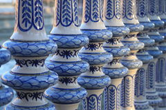 The balustrade of the place of Spain in Seville Stock Photography