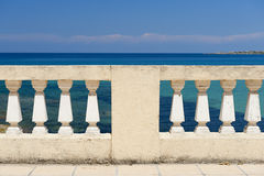 Balustrade by the sea Royalty Free Stock Photo