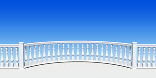 Balustrade semicircle Stock Image