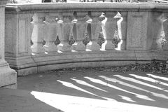 Balustrade. A stone balustrade on a public park Royalty Free Stock Images