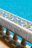 Balustrade in a Swimming Pool Stock Images