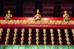 Balustrade of Thai Church at Wat Phra Kaeo - Chiang Rai, Thailand. Balustrade of Thai Church at Wat Phra Kaeo in Chiang Rai, Thailand stock image