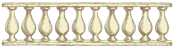 Balustrade. Vector drawing Stock Image