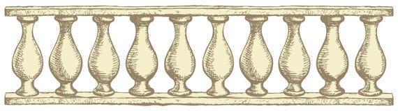 Balustrade. Vector drawing Stock Image