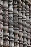 Balustrade. A wooden balustrade decorating a balcony in Antigua, Guatemala Stock Photos