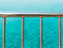 Balustrades de Poolside Photographie stock