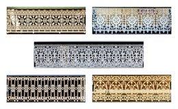 Balustrades van het Armidale de Antieke Gietijzer stock afbeeldingen
