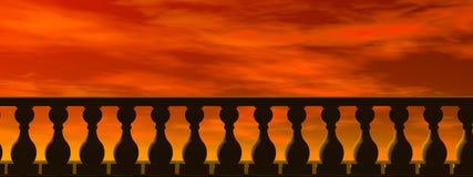 balustradhelveten royaltyfri illustrationer