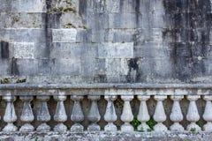 Balustradowa i stara ściana Zdjęcia Royalty Free