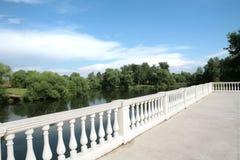 balustradowy kraju krajobrazu biel obraz stock