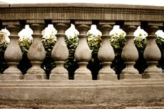 Balustres en pierre Photo libre de droits