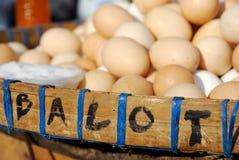 Balut (ovo do pato) no mercado fotografia de stock royalty free