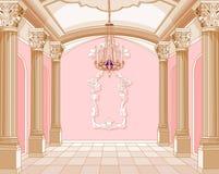 Balzaal van magisch kasteel royalty-vrije illustratie