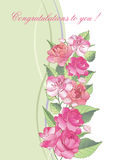 Balzamin collection-04. Vector illustration. Beautiful greeting card with blooming balsam flowers Stock Image