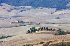 Balze landskap nära Volterra i Tuscany, Italien Royaltyfri Fotografi