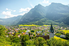 Balzers wioska w Liechtenstein Fotografia Stock