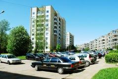Balzi nella capitale del distretto di Pasilaiciai della città della Lituania Vilnius Immagini Stock Libere da Diritti