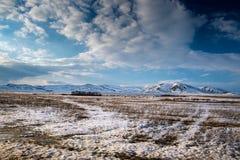 Balzi nelle montagne dei Urals del sud Fotografia Stock