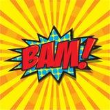 BAM! κωμική λέξη Στοκ εικόνα με δικαίωμα ελεύθερης χρήσης