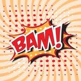 BAM! κωμική λέξη Στοκ Εικόνες