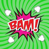 BAM! κωμική λέξη Στοκ φωτογραφίες με δικαίωμα ελεύθερης χρήσης