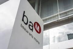BAM (花花公子艺术博物馆)在阜,比利时 免版税库存图片