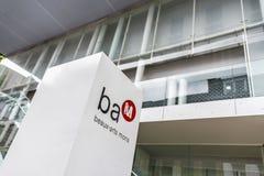 BAM (Beaux-konster museum) i Mons, Belgien Arkivfoto