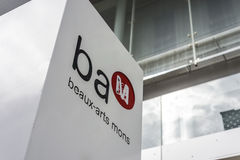 BAM (Beaux-konster museum) i Mons, Belgien Royaltyfria Bilder