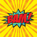 BAM! comic word Royalty Free Stock Image