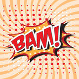 BAM! comic word Stock Images