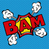 Bam komiczek ikona Zdjęcie Royalty Free